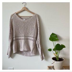 Gentle Fawn pointelle sweater crochet details